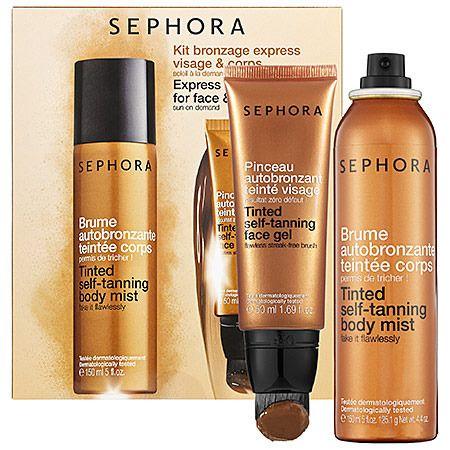 Sephora Collection: Self Tanning Kit El dúo que todas debemos tener para lograr un bronceado hermoso, natural y radiante durante todo el año tanto en la cara como en el cuerpo.