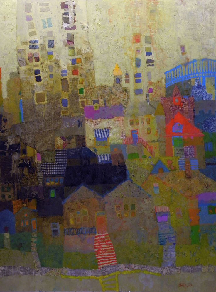 untitled urbanscape by Mark English (contemporary), American (ZsaZsa Bellagio)