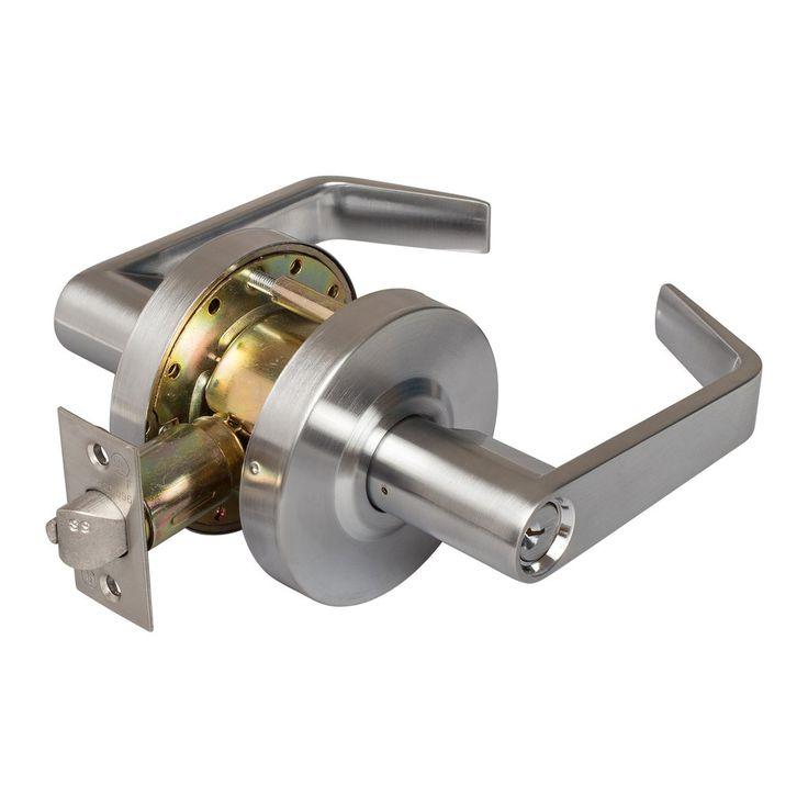 Vigilant Commercial Door Lock - Satin Chrome - Harney Hardware