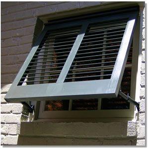 25 best ideas about aluminum awnings on pinterest - Aluminum window shutters exterior ...