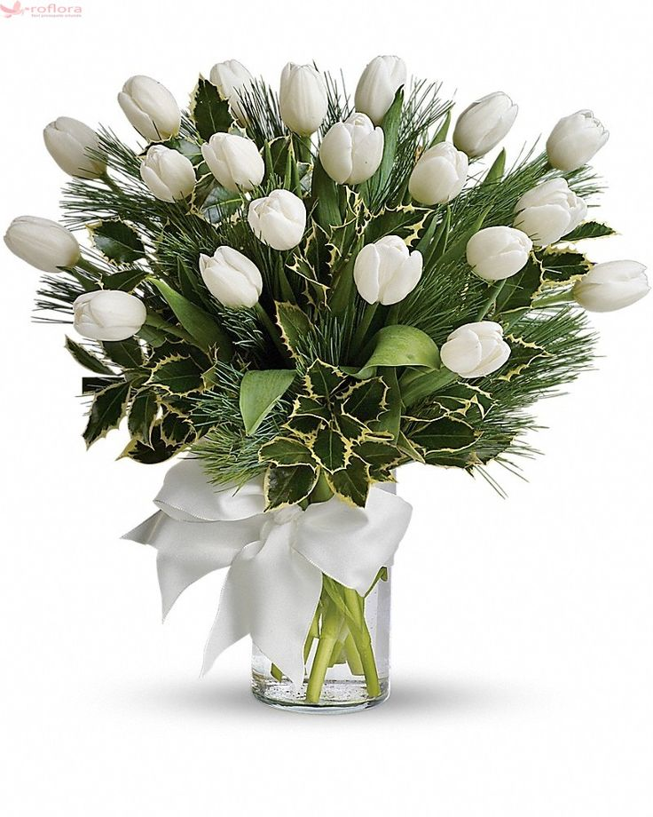 Divin – Buchet cu 21 lalele albe