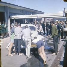"At dinner, in ""Tradewinds"", two evenings ago, we reminisced, again, about ""muck-up day"", at Maroubra Bay High School, 1961. (The teacher's car had been pushed into the playground, from the parking area and the teachers insisted that it should be returned there!)"
