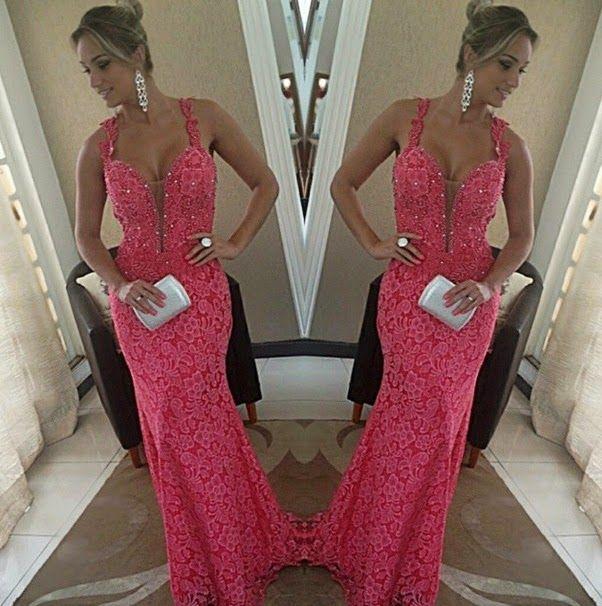 vestido de festa de renda