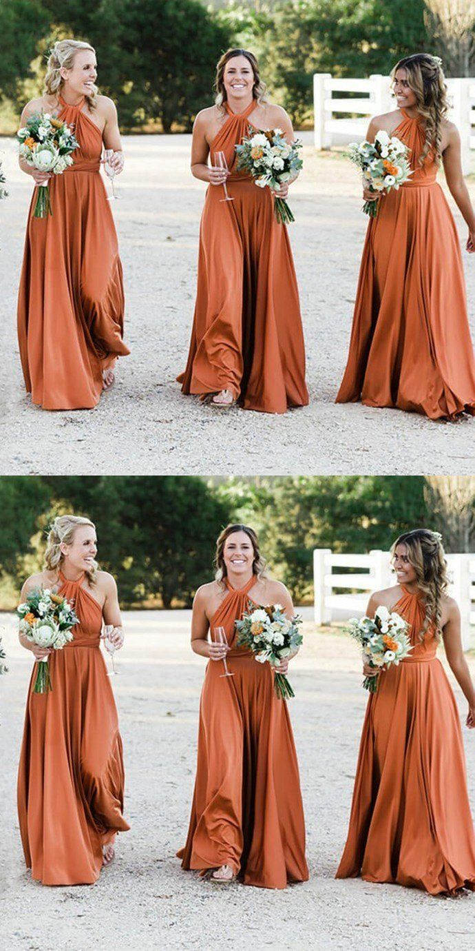 990a2ecb8c4e A-Line Halter Floor-Length Soft Cheap New Modest Fall Affordable Bridesmaid  Dresses ,