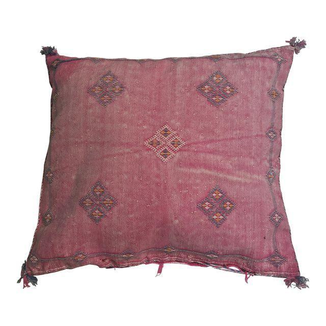Pink Moroccan Stuffed Cactus Silk Pillow - Image 1 of 9