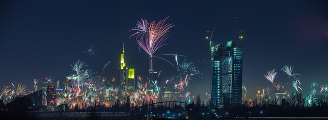 Germany Firework Frankfurt New Years