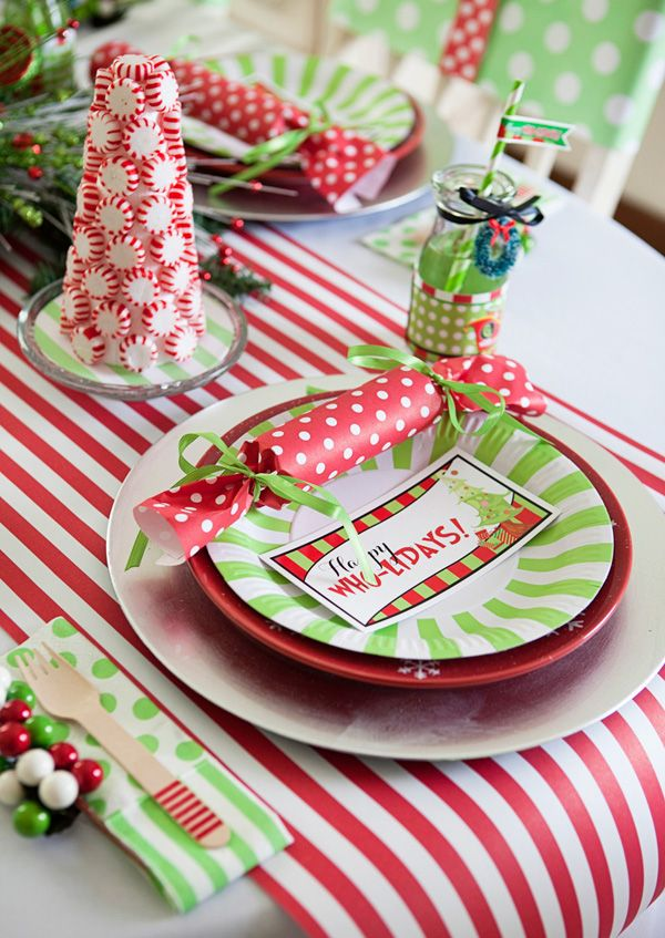 charms silver Whimsical Grinch Inspired Who liday Party   Table Runner is made from  the www SmashCakeandCo com Party Paper line