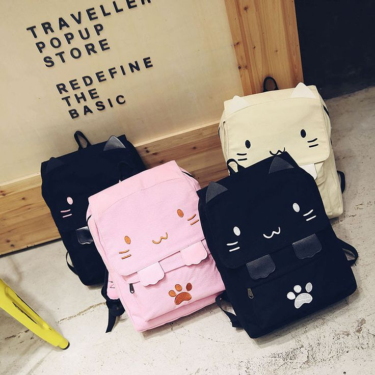Kawaii Fashion Shop Canvas Backpack on The Demon's Chest.Japanese Kawaii 3D Cat Canvas Backpack Cute Plus Size Bag Dc369 catches up with the cute style.Get yourself ready to look fashion.Don't miss it.