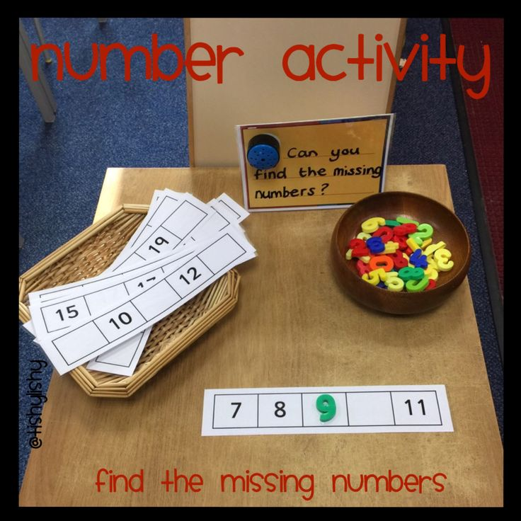 Number - find the missing numbers. Could use this with double digit numbers too