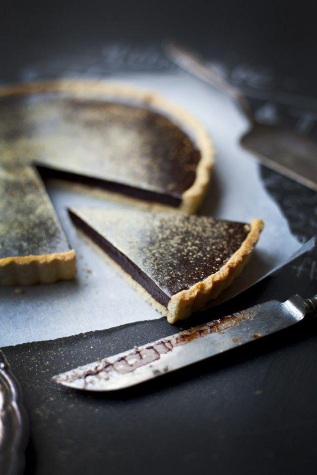 millionaire chocolate tart