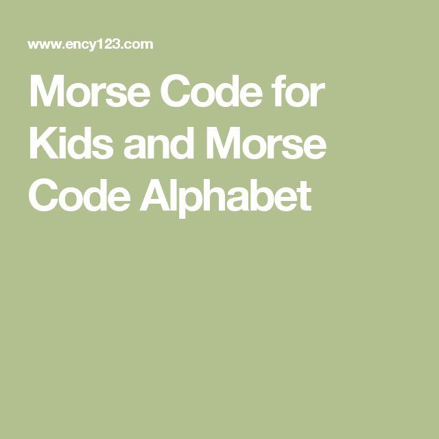morse code for kids pdf