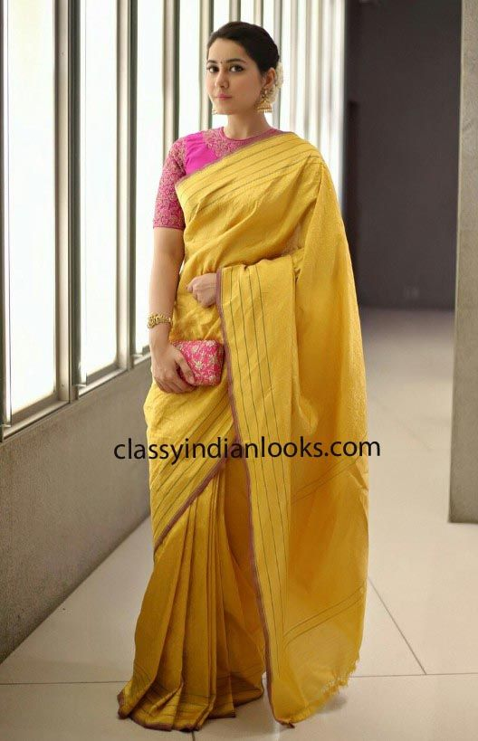 Rashi Khanna in Saree – Classy Indian Looks