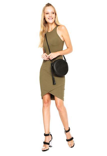 Vestido Colcci Curto Liso Verde - Marca Colcci  eb350eca05802