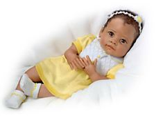 Ashton Drake Lifelike Baby Girl Sweet Dreams Ava Touch Activated doll    New