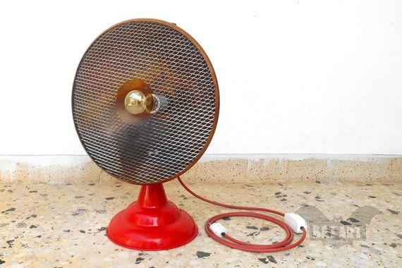 Floor lamp  Desk lamp  Vintage copper heater  Lighting by BatLab
