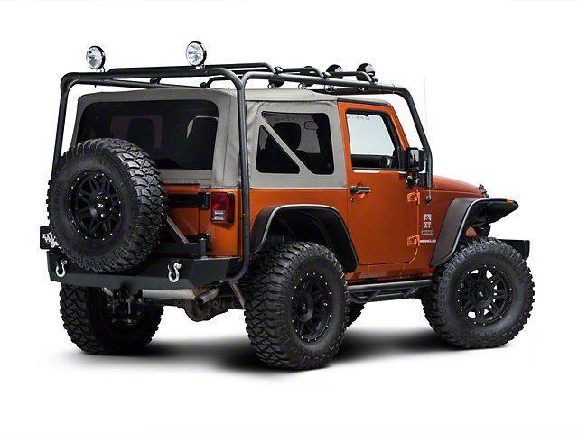 Barricade Jeep Wrangler Roof Rack Textured Black J100174 07 17