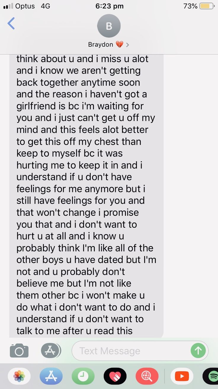 To boyfriend ex paragraph your Sample Letter