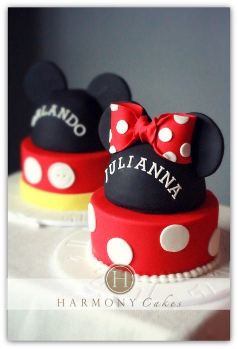 M&M Mouse Cakes
