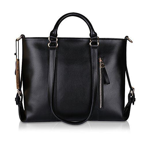 Kattee Urban Style 3-Way Women's Genuine Leather Shoulder Tote Bag - http://dressfitme.com/kattee-urban-style-3-way-womens-genuine-leather-shoulder-tote-bag/