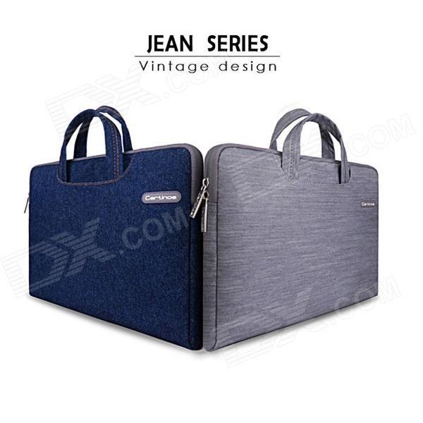 "Cartinoe Classic Jeans Laptop Inner Bag Sleeve for Apple MacBook Air / Pro 13.3"" - Denim Blue Price: $21.99"