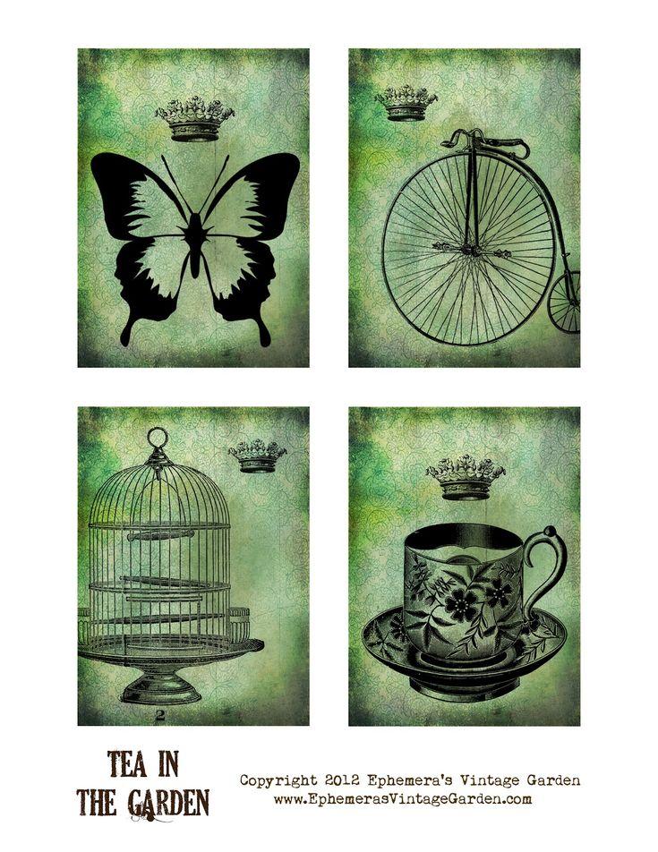 Ephemera's Vintage Garden: Free Weekly Printable: Garden Tea Tags