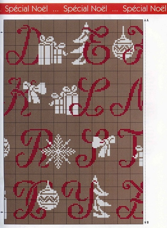 sampler natale 3/4, alphabet charted for needlepoint or cross stitch