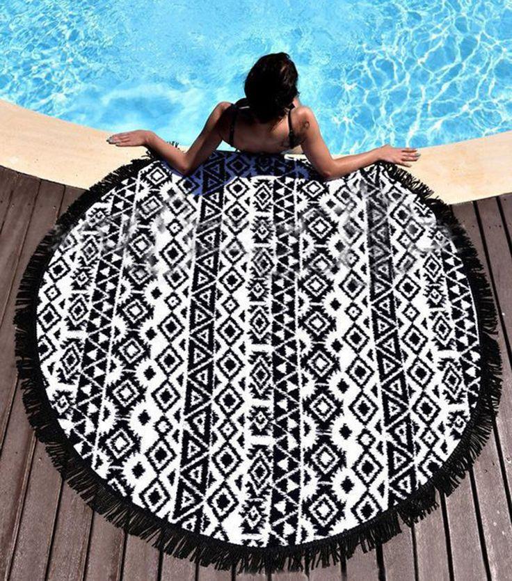 Beach Towel Bohemian Round Tassels / Cloth Yoga Pad