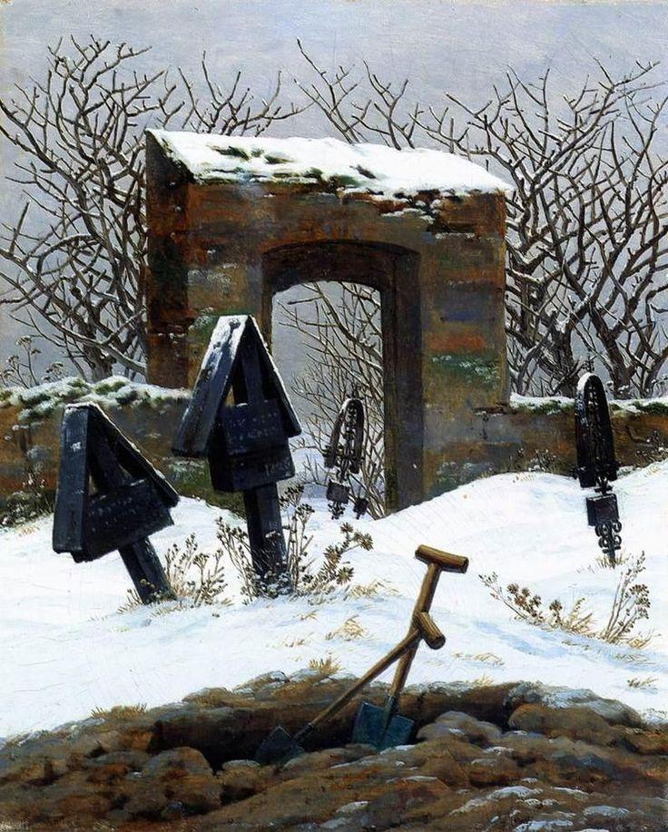 Graveyard under Snow (1826) Image via http://www.caspardavidfriedrich.org/