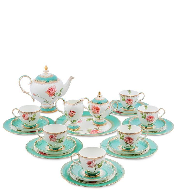 Чайный сервиз из костяного фарфора на 6 персон «Роза» JK-69 (Pavone)   Бренд: Pavone (Italy);    Страна производства: Китай;   Материал: фарфор;   Количество персон: 6;   Объем чашки: 200 мл;   Объем чайника: 1 л;   Объем молочника: 250 мл;   Объем сахарницы: 300 мл;   Количество предметов: 22 шт;          #dinnerware #porcelain #pavone #bonechina #gifts #giftshop  #подарок #фарфор #столовыйсервиз #столовыйнабор #сервировка #чайныйсервиз