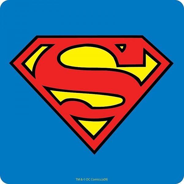 Sous-Verre en liège Logo Superman en vente chez Pause Canap, spécialiste des produits dérivés. Livraison rapide ! - 1168