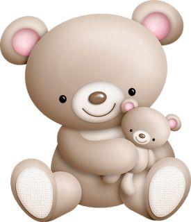 Clipart Dulce Osita con Bebé.