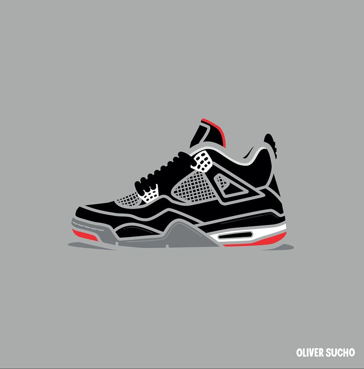 Designer Oliver Sucho from Huddersfield, United Kingdom created this series  of Air Jordan 4 minimal illustrations.