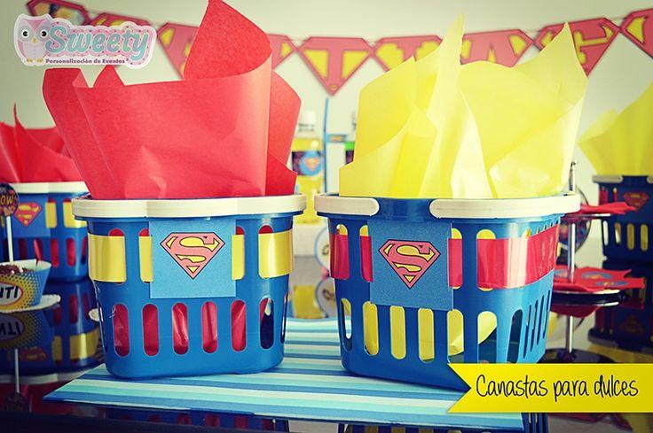 Canastas para dulces con diseños de Superman #Sweety #Superman ...