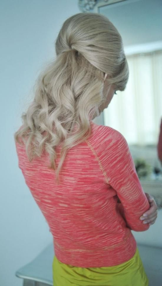 this would be gorgeous if the curls were loosely pulled up into a chignon! I adore that 60's poof!