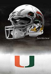 Miami Hurricanes football helmet #hurricanes