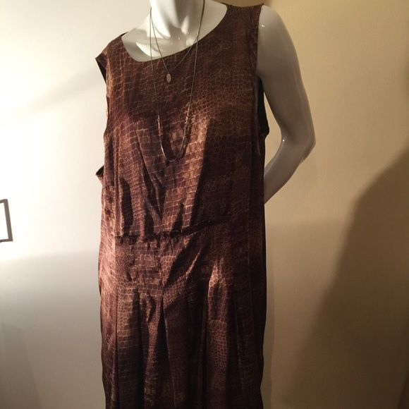Macy's brown plus size dress 20 W Jones New York Macy's brown plus size dress 20 W. Lined. Jones New York Dresses