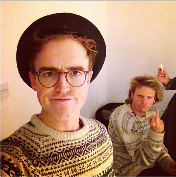 "#via@tommcfly  ""Look at me, I'm Dougie, I wear silly hats. Boobs boobs farty bum"""