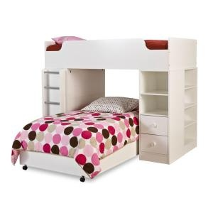 Clever Pure White Twin loft Bed (4-Pieces)-3360A4 at The Home DepotBedrooms Sets, Bunk Beds, Puree White, Kids Room, South Shore, Girls Room, Loft Beds, Bedrooms Ideas, Twin Loft