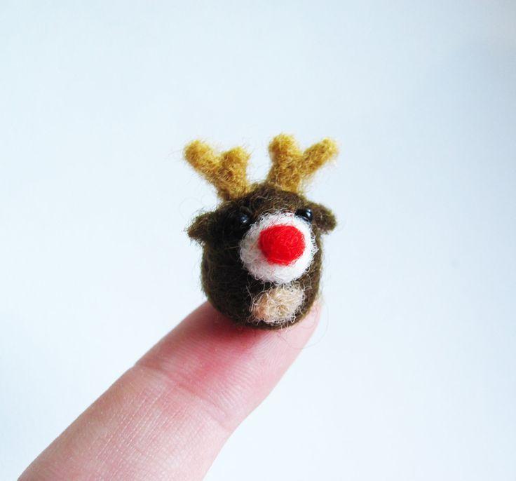 Rudolph needle felted miniature