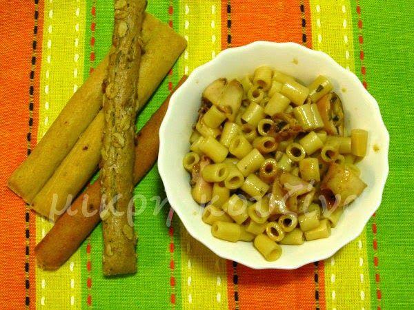μικρή κουζίνα: Καλαμαράκια με κοφτό μακαρονάκι