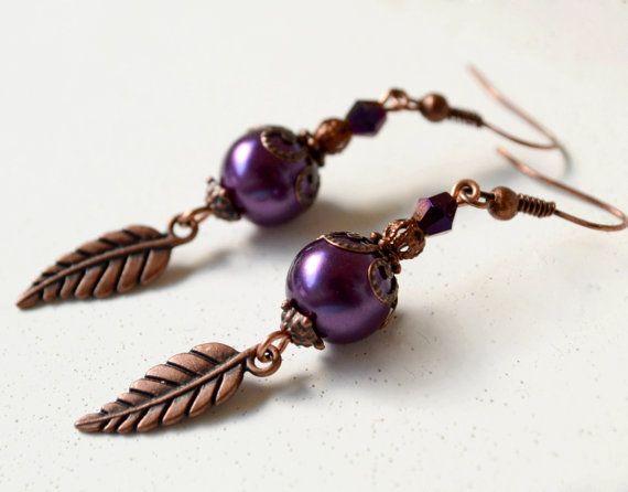 Rustic wedding fall wedding jewelry plum door ArtemisBridalJewelry, $11.00
