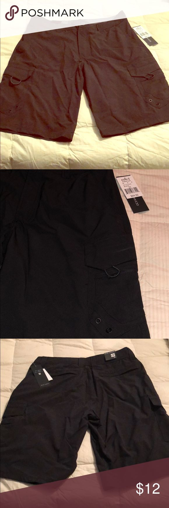 Ocean Current Black Board/Cargo Shorts New with tags! Double as swim trunks if desired Ocean Current Shorts Cargo