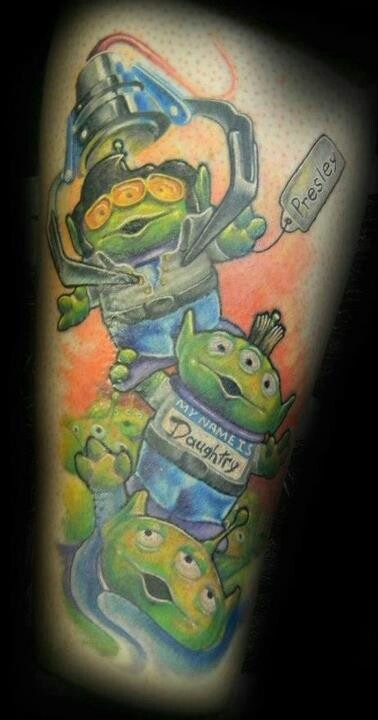 The claw toy story Disney tattoo