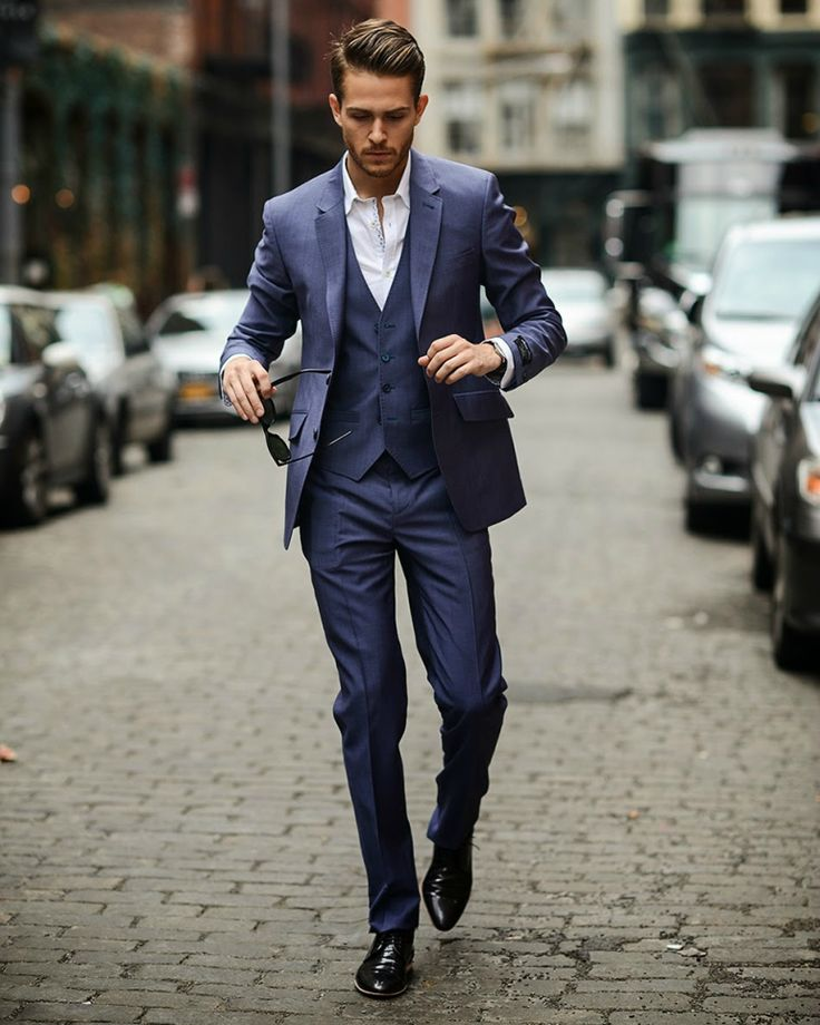 adam gallagher navy suit mens streets style