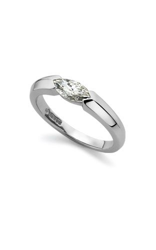 Marquise diamond ring in platinum - Diamond Single Stone Rings - Diamond Jewellery - Cellini Jewellers, Cambridge - Diamond, Amethyst Jewellery, Pearl Earrings Specialists.