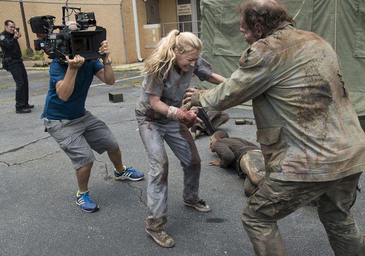 The Walking Dead Season 5 Behind-the-Scenes Photos - Emily Kinney (Beth Greene) in Episode 4