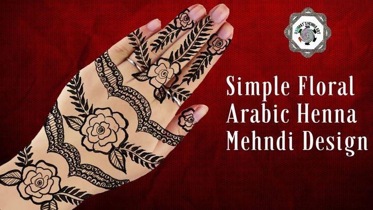 Simple Floral Arabic Henna mehndi designs  Easy Arabic Mehndi Designs  M...