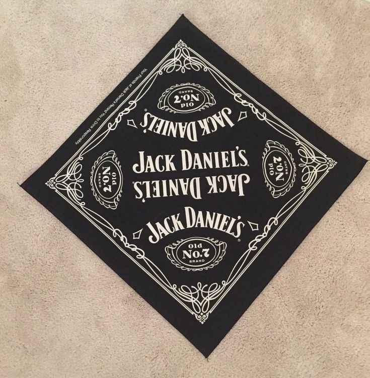 Jack Daniels Black Old No 7 Bandana NEW #jackdaniels #bandana #no7 #old #ebay