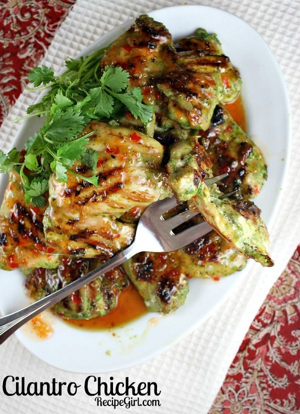 Cilantro Chicken - Made this last night and it was great - has a little kick to it. Non-chicken eating husband even liked it! --Michelle