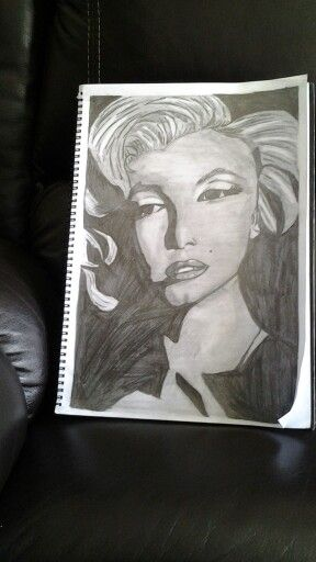 My sketch of marilyn monroe